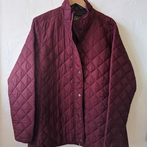 Lightweight Quilted Shell Coat